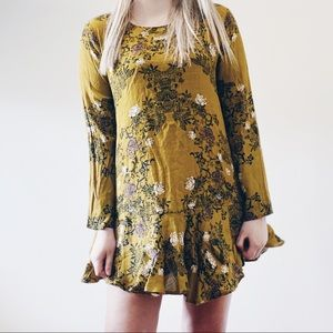 Free People Smooth Talker Floral Tunic Dress
